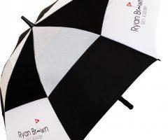 Paraguas para uso promocional, apertura automática, estructura en fibra de vidrio