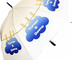 Paraguas publicidad 1ECB acero negro