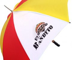 Paraguas promocional logo todo color