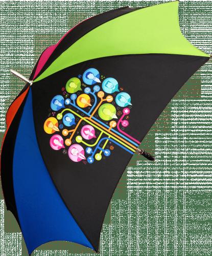 Paraguas personalizado grande todo color