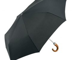 Paraguas plegable personalizado mango curvo madera