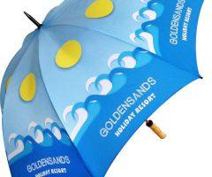 Paraguas promocional madera