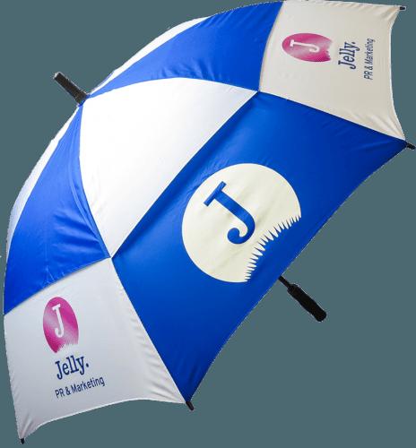 Paraguas Golf antiviento bicolor azul blanco