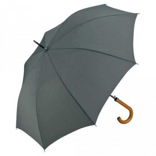 Paraguas personalizado automatico mango curvo madera