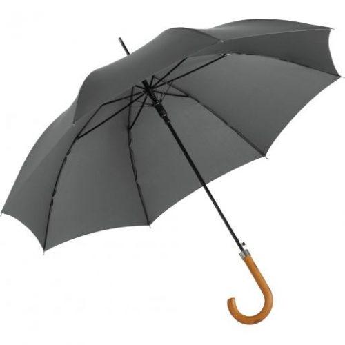 Paraguas personalizado automatico mango curvo madera abierto