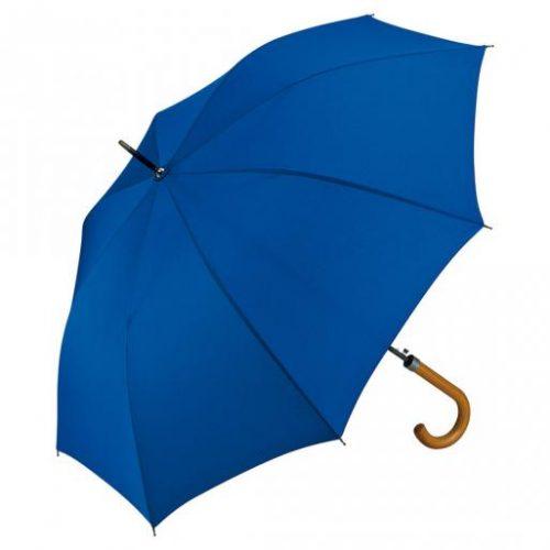 Paraguas personalizado automatico mango curvo madera azul
