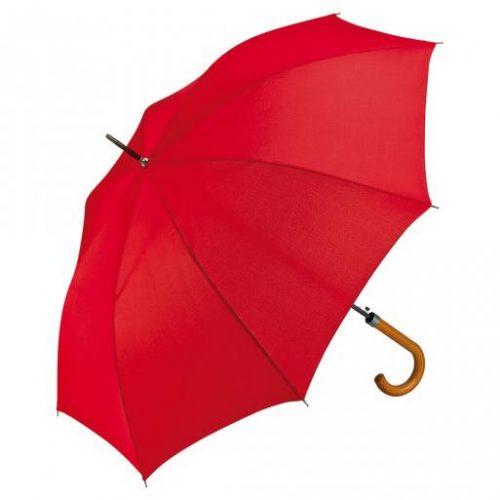 Paraguas personalizado automatico mango curvo madera rojo