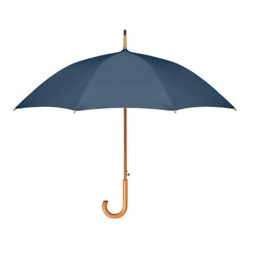 Paraguas personalizado ecologico madera azul