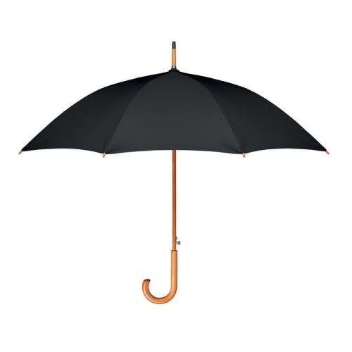 Paraguas personalizado ecologico madera negro