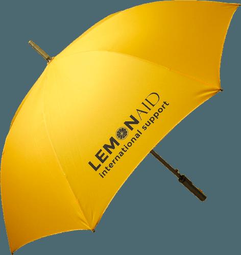 Paraguas personalizado golf ejecutivo amarillo