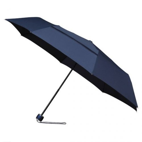 Paraguas plegable ecologico antiviento azul