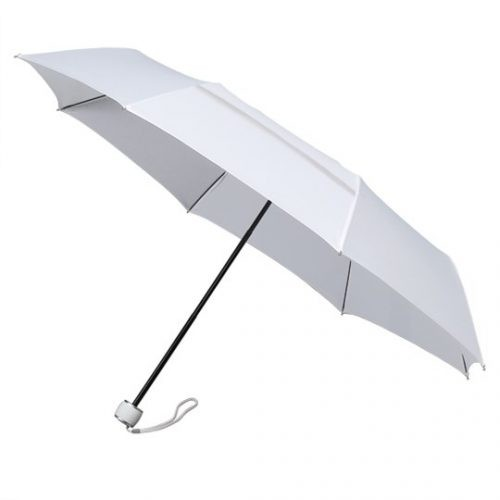 Paraguas plegable ecologico antiviento blanco