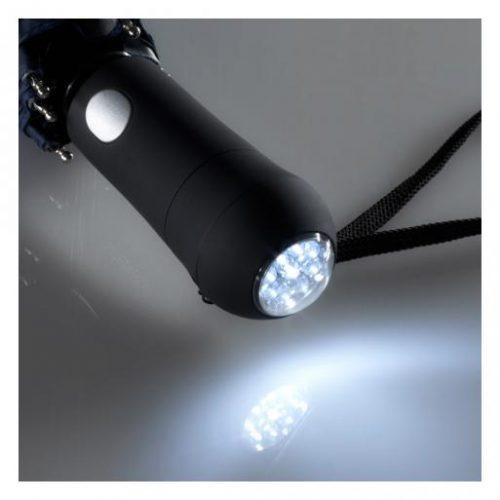 Paraguas plegable personalizado reflectante con luz LED blanca