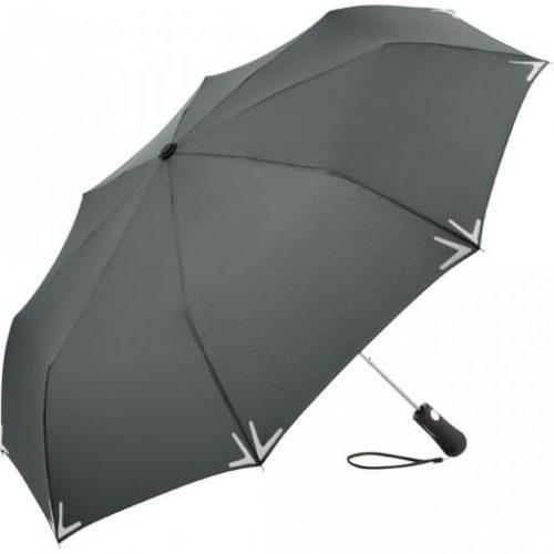 Paraguas plegable personalizado reflectante con luz LED gris