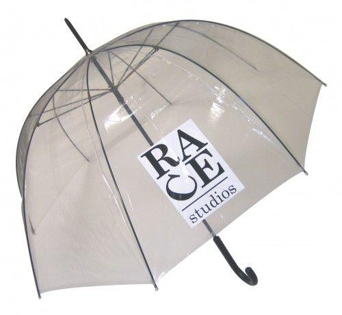 Paraguas personalizado logo color PVC transparente cúpula