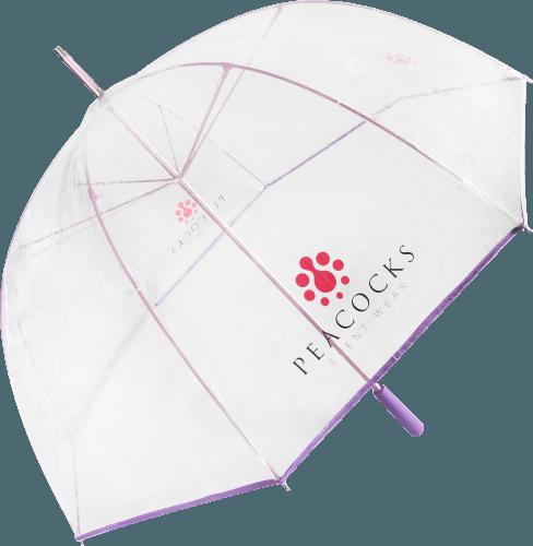 Paraguas transparente PVC personalizado color