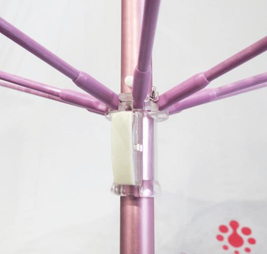 Paraguas transparente PVC personalizado color apertura