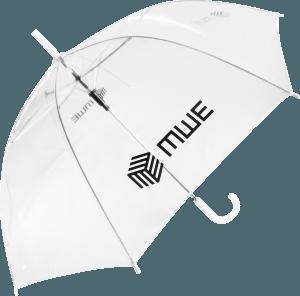 Paraguas transparente PVC personalizado paseo