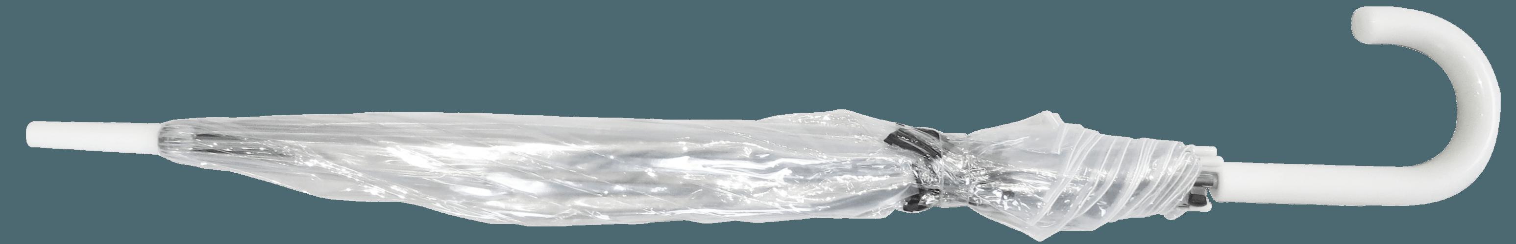 Paraguas transparente PVC personalizado paseo cerrado