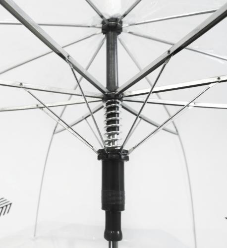 Paraguas transparente PVC personalizado paseo varillas
