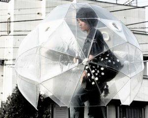 Paraguas burbuja