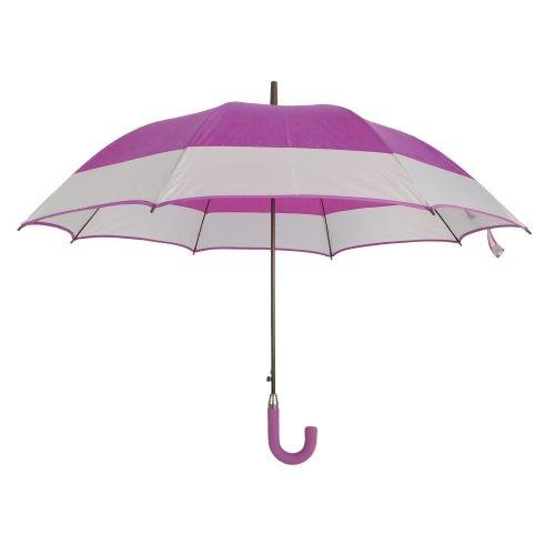Paraguas personalizado automático bicolor lila