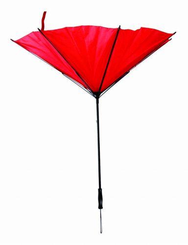 Paraguas personalizado antiviento barato rojo doblado