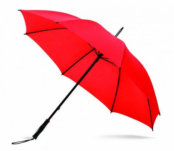 Paraguas personalizado antiviento barato rojo