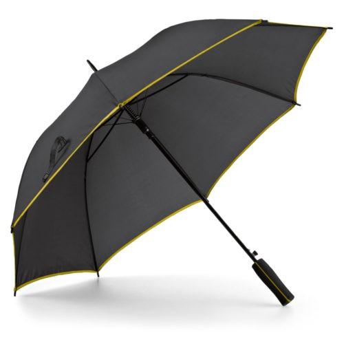 Paraguas automático bicolor amarillo abierto