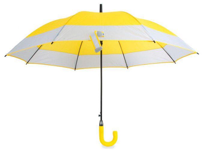 Paraguas personalizado automático bicolor amarillo