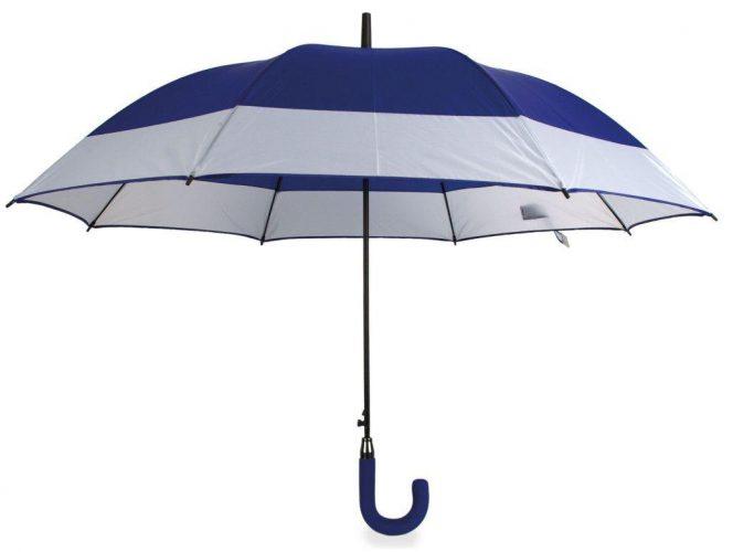 Paraguas personalizado automático bicolor azul royal