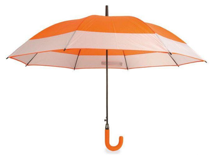 Paraguas personalizado automático bicolor naranja