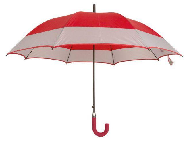 Paraguas personalizado automático bicolor rojo