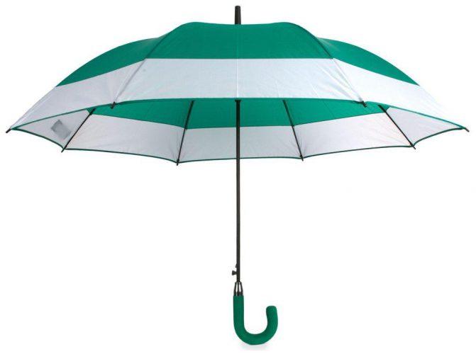 Paraguas personalizado automático bicolor verde
