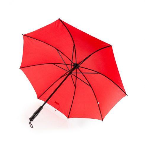 Paraguas personalizado antiviento barato rojo abierto