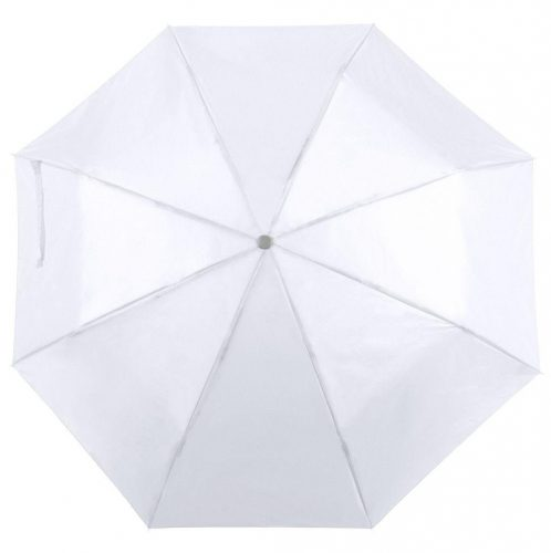 Paraguas personalizado barato plegable blanco