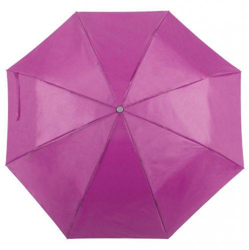 Paraguas personalizado barato plegable fucsia