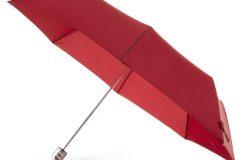 Paraguas personalizado barato plegable rojo abierto