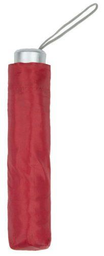 Paraguas personalizado barato plegable rojo cerrado