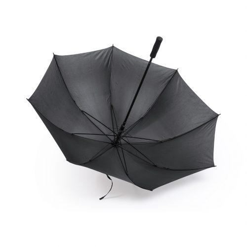 Paraguas personalizado barato Golf antiviento negro abierto