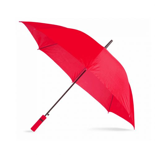 Paraguas personalizado barato mango color rojo