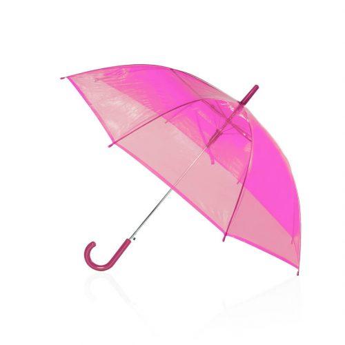 Paraguas transparente barato automatico fucsia