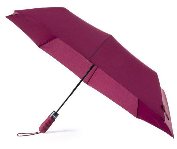 Paraguas personalizado barato plegable mango ergonómico apertura automática