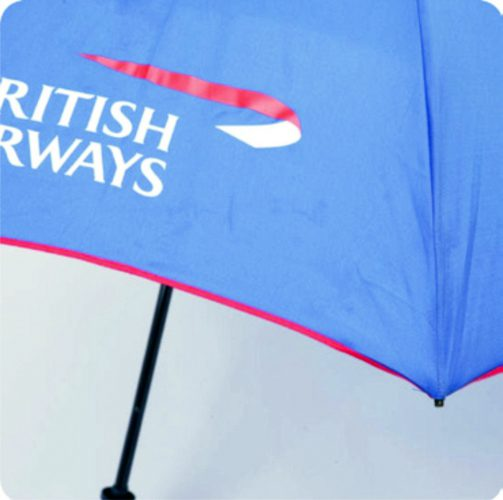 Ribete de color en paraguas para regalo