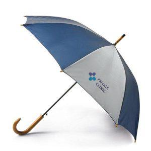 Paraguas bicolor blanco/azul automático