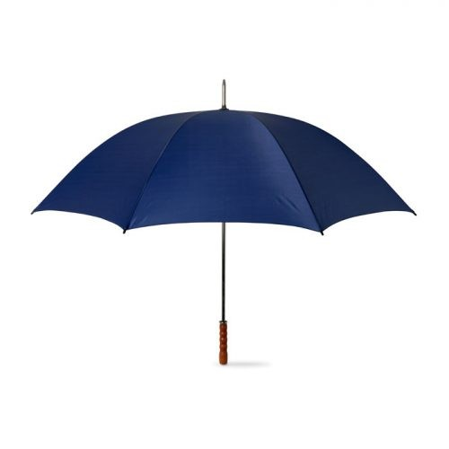 Paraguas Golf mango madera azul