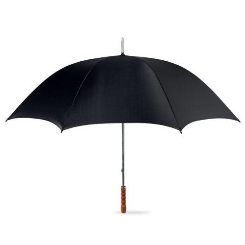 Paraguas Golf mango madera negro abierto
