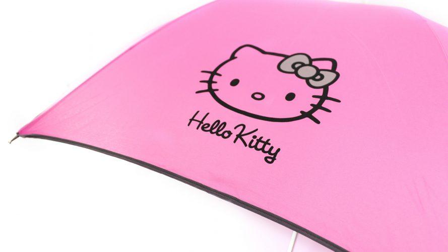 Paraguas personalizado Hello Kitty logo