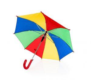 Paraguas personalizado infantil multicolor abierto