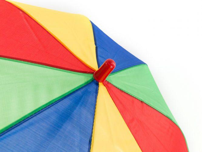 Paraguas personalizado infantil multicolor contera